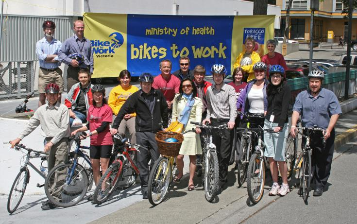 BC Ministry of Health Bike-to-Work Team in 2008
